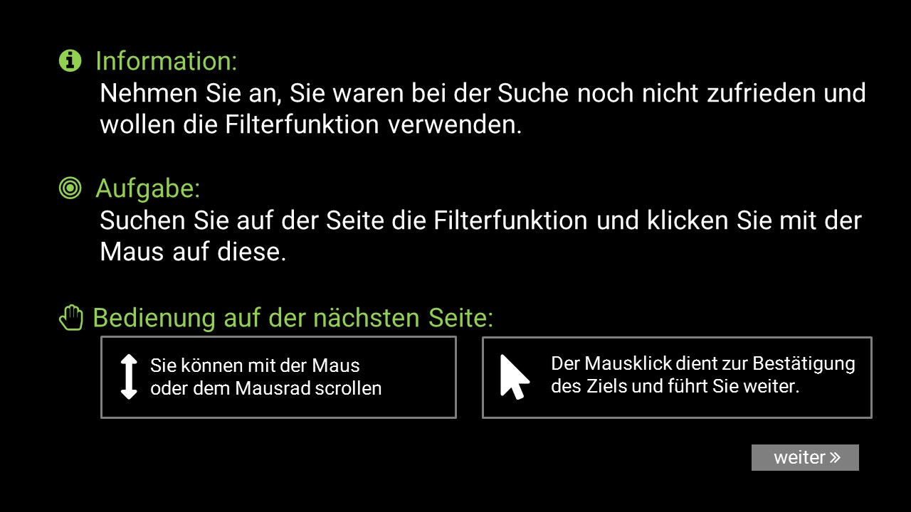 example view user participant instructions german