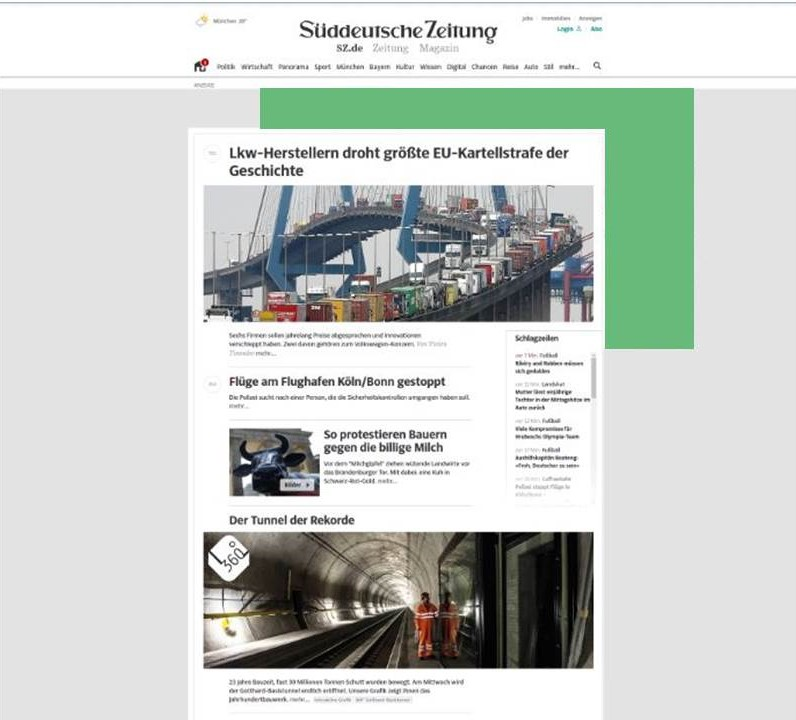 placeholder for advertisement on news portal